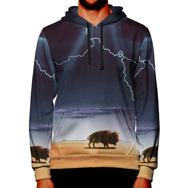 The Buffalo Bull and the Cedar Tree Pullover Hoodie