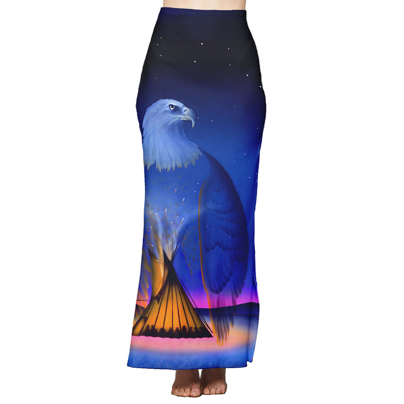God Protect Us Maxi Skirt