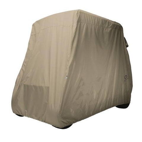 Classic Golf Cart Cover Long Roof Light Khaki