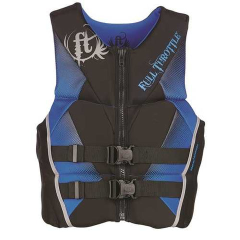 Full Throttle Mens Hinged Rapid-Dry Flex-Back Vest Blue-2XL