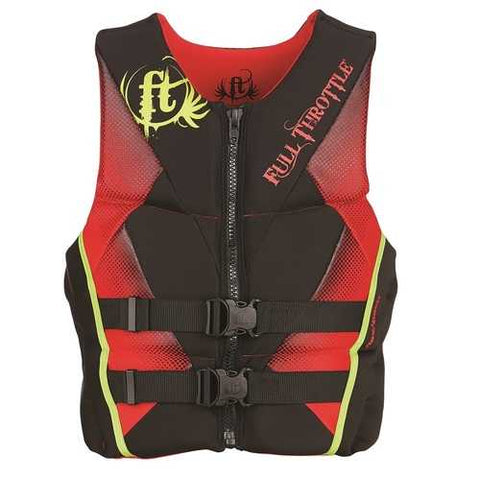 Full Throttle Mens Hinged Rapid-Dry Flex-Back Vest Red-3XL
