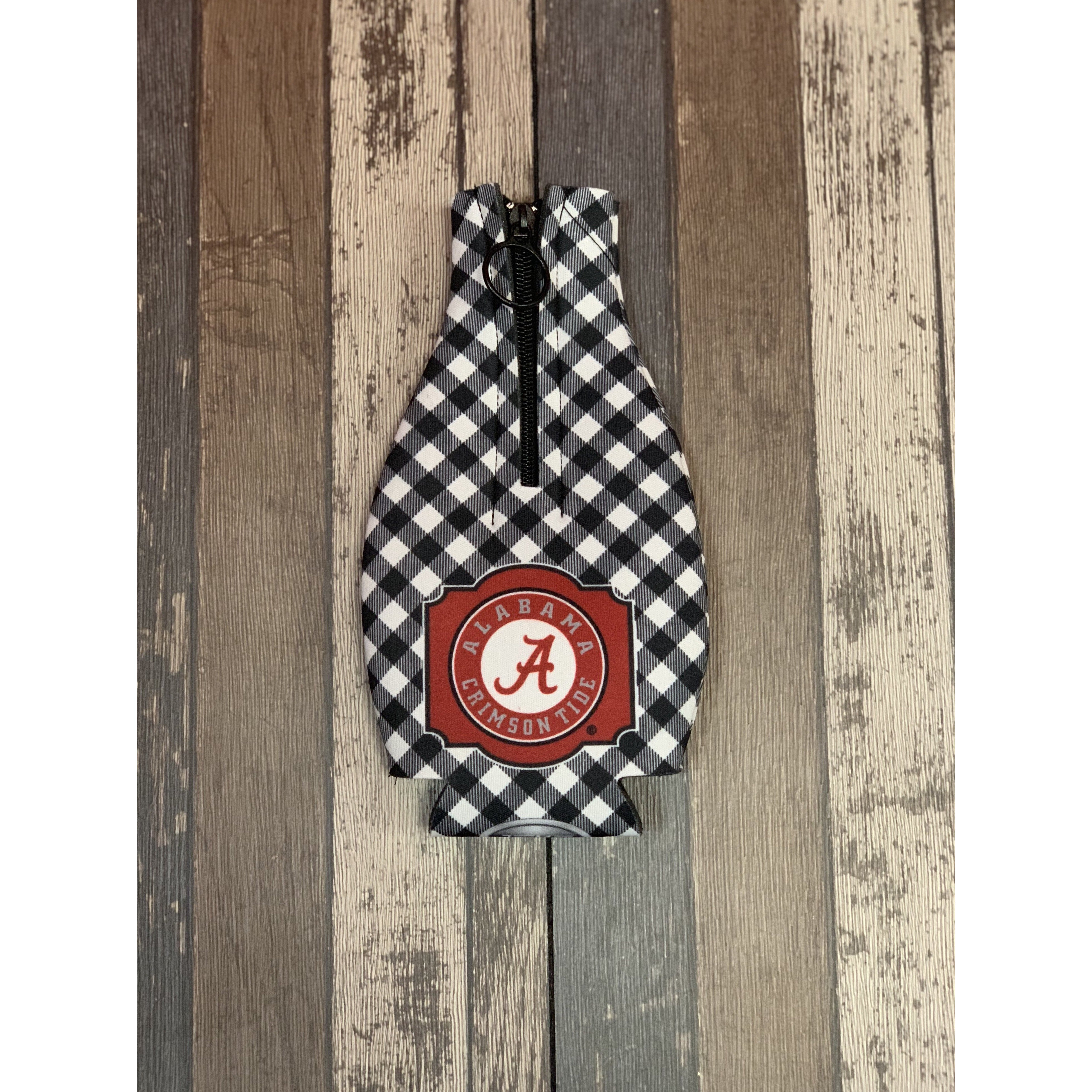 Gingham Game Day Bottle Koozies-#