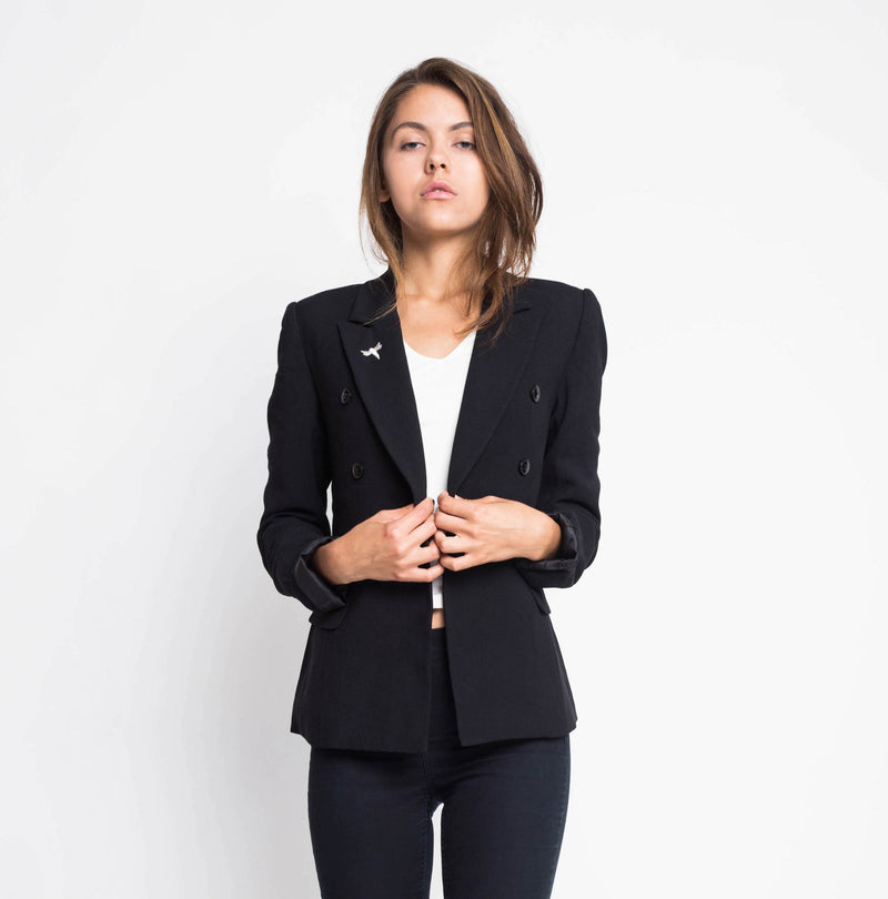 Black Office Jacket Casual
