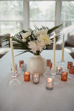 Load image into Gallery viewer, Glass Tapered Candle Stick Holders - Modern Wedding & Event Rentals - Something Borrowed Minneapolis