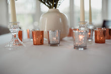 Load image into Gallery viewer, Silver Mercury Glass Candle Holders - Modern Wedding & Event Rentals - Something Borrowed Minneapolis