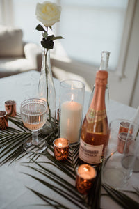 Cylinder Glass Vase Candle Holder - Modern Event & Wedding Rentals - Something Borrowed Minneapolis
