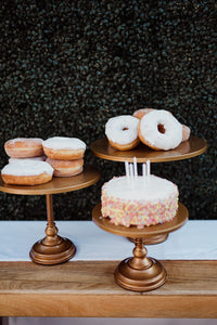 Tiered Cake Stands (gold) -  Modern Wedding & Event Rentals - Something Borrowed Minneapolis