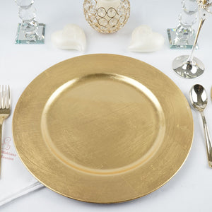 Gold Chargers -  Modern Event & Wedding Rentals - Something Borrowed Minneapolis