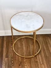 Load image into Gallery viewer, Marble Round Accent Table Small  *Rental*