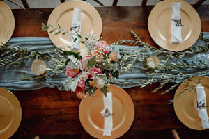 Cheesecloth Table Runners *Rental*