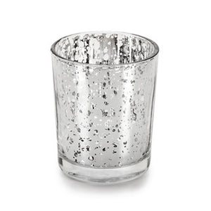 Silver Mercury Glass Candle Holders - Modern Wedding & Event Rentals - Something Borrowed Minneapolis