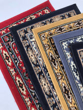 Load image into Gallery viewer, Aisle Runner Rugs - Red, navy, mustard oriental style vintage runners - Event and wedding rentals - Something Borrowed Minneapolis