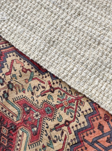 Perisan Oriental Vintage Style Rug and Jute Rug - Event and wedding rentals - Something Borrowed Minneapolis