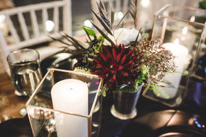 Silver Julep Vases -  Modern Event & Wedding Rentals - Something Borrowed Minneapolis - Studio J Loft