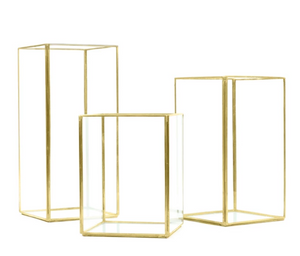 Glass Gold Hurricane -  Modern Event & Wedding Rentals - Something Borrowed Minneapolis