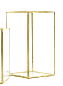 Glass Gold Hurricanes -  Modern Event & Wedding Rentals - Something Borrowed Minneapolis