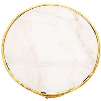 Marble Round Accent Table Small  *Rental*