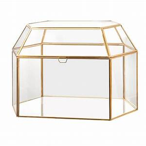Gold Terrarium Card Box -  Modern Event & Wedding Rentals - Something Borrowed Minneapolis