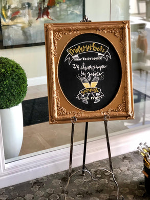 Ornate Chalkboard / Chalk Art / Custom Signage and Easels -  Modern Event & Wedding Rentals - Something Borrowed Minneapolis