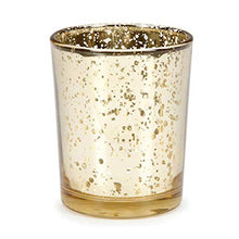 Load image into Gallery viewer, Gold Mercury Glass Candle Votives - Event and wedding rentals - Something Borrowed Minneapolis