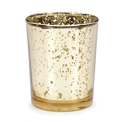 Gold Mercury Glass Candle Votives - Event and wedding rentals - Something Borrowed Minneapolis