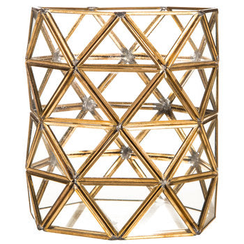 Geometric Candle Holder Hurricane - Modern Event & Wedding Rentals - Something Borrowed Minneapolis