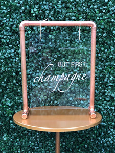 Acrylic & Copper Tabletop Sign