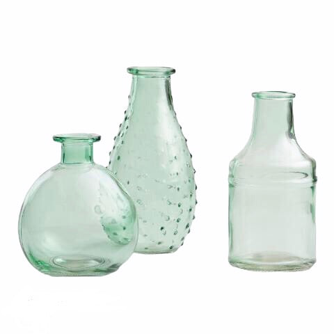 Green Bud Vase 3 Pc. Set *Rental*
