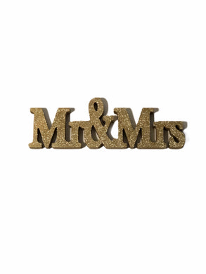Mr & Mrs Glitter Sign *Rental*