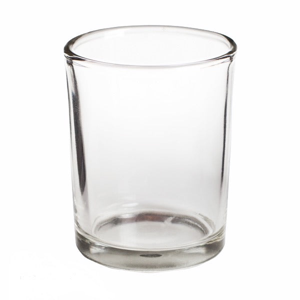 Clear Glass Votives Gold *Rental*