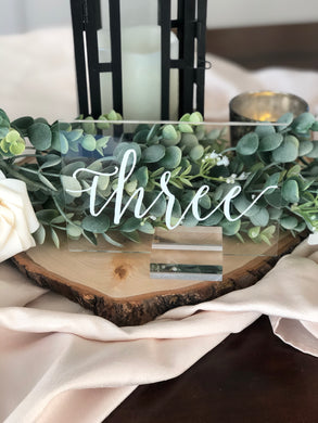 Acrylic Table Numbers - Modern Event & Wedding Rentals - Something Borrowed Minneapolis