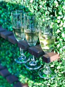 Champagne Flutes & Wall - Modern Event & Wedding Rentals - Something Borrowed Minneapolis