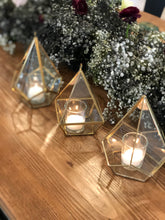 Load image into Gallery viewer, Clear Glass Votives Gold *Rental*