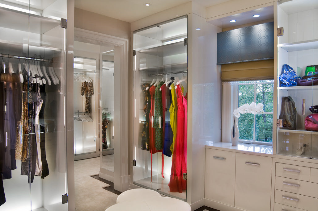 Custom Designed Wardrobe Closet by Martin Perri Interiors