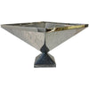 Table top Centerpiece Sculpture - Polished Stainless on Marble Base