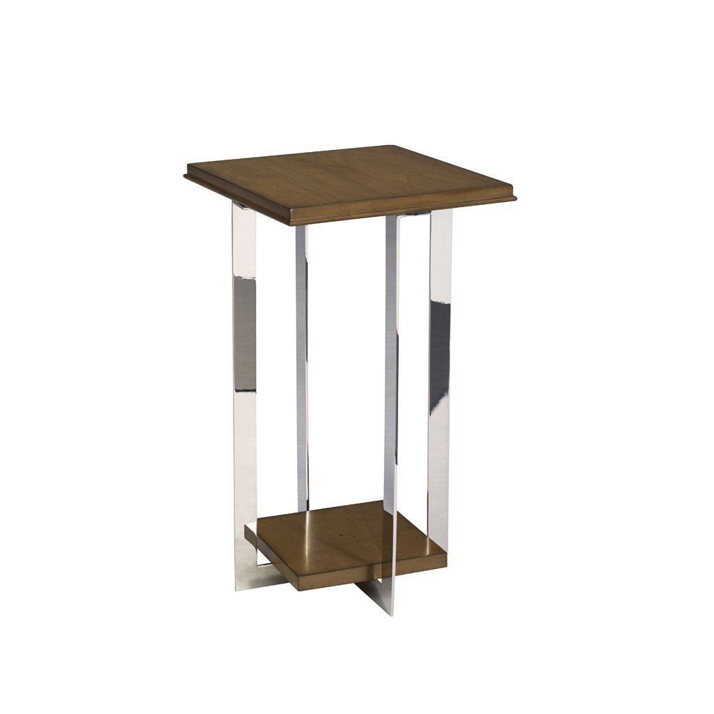 swaim bardot accent table polished stainless steel 221-4-w-pss