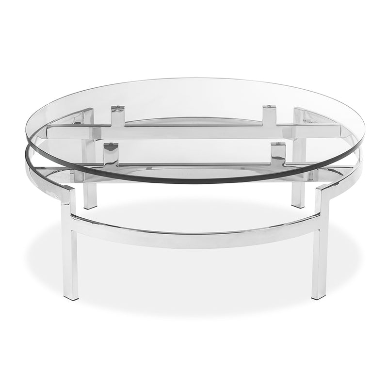 Met Round Cocktail Table in Polished Stainless