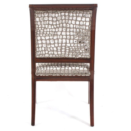 Dining Side Chairs, Macassar Ebony Faux Finish