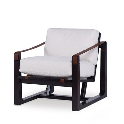 Dax Chair, Fabric with leather Arm Detail