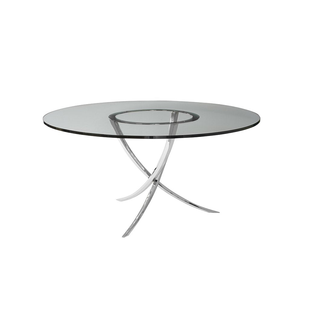 Swaim Garbo Dining Table With .75 Inch glass top 575-6-G-48-PSS