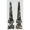 Pair of Vintage Obelisks Jasper Marble with Gold