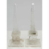 "Rock Crystal Obelisks Minature 8"" Tall  x 3"" square Base."
