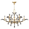 Beveled Arcs Gold Chandelier 761640ST