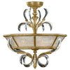 Beveled Arcs Gold Semi-Flush Mount 767740ST