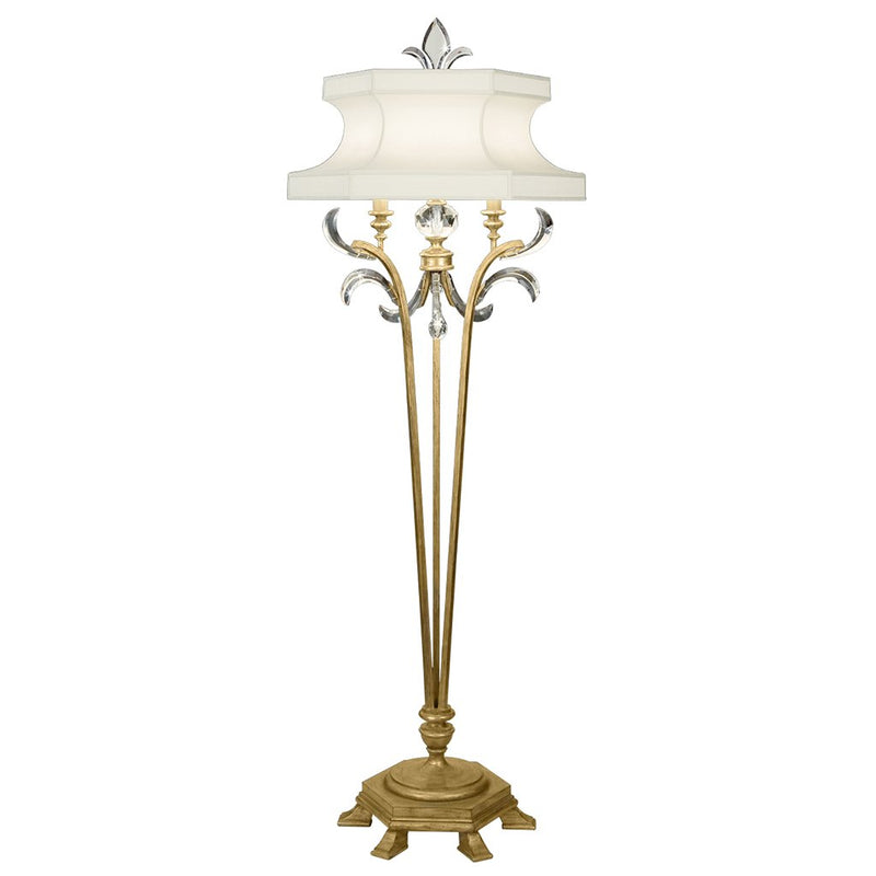 Beveled Arcs Gold Floor Lamp 768620ST
