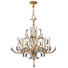 Beveled Arcs Gold Chandelier 770040ST