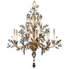 Crystal Laurel Gold Chandelier 773740ST