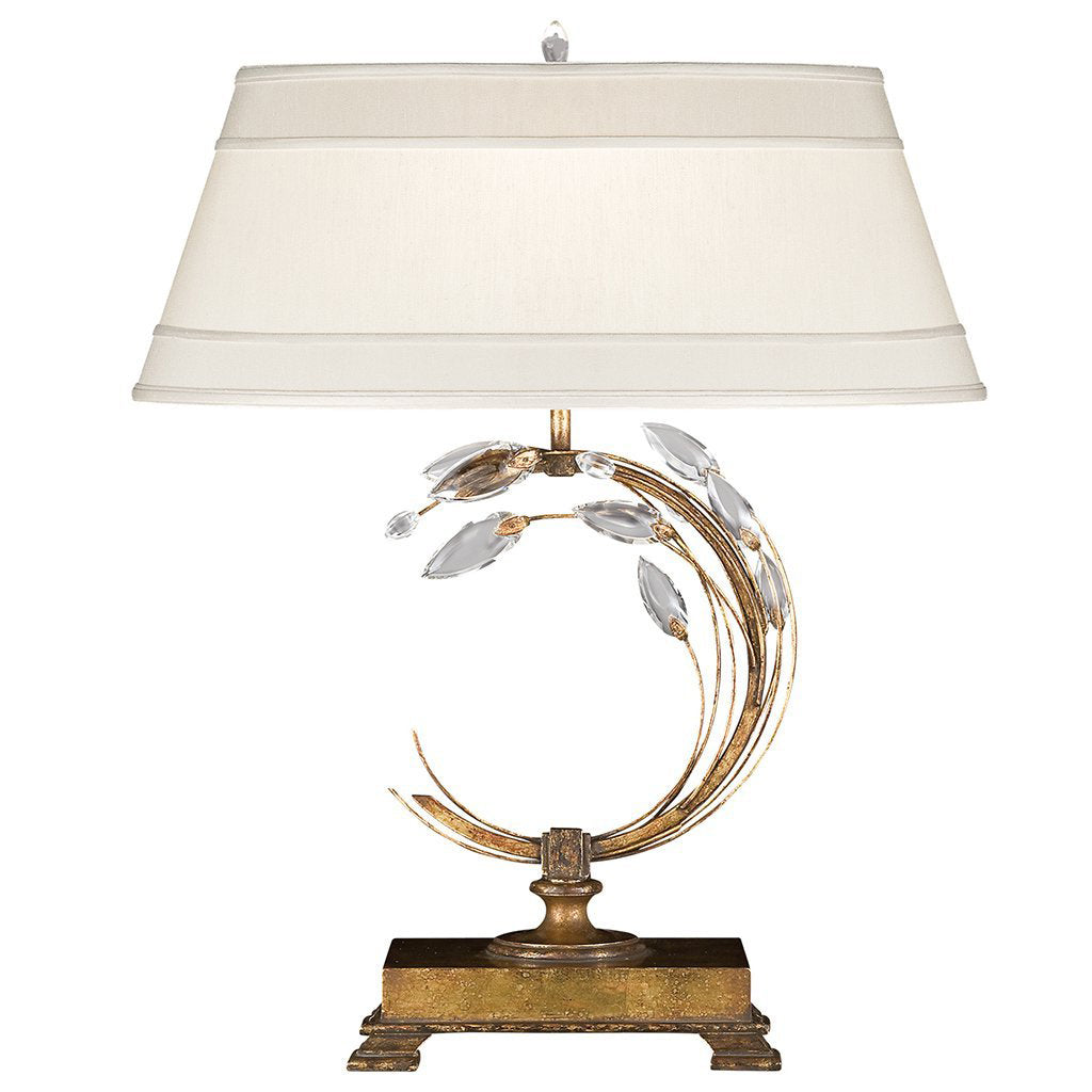 Crystal Laurel Gold Table Lamp