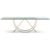 Polished Stainless Dining Table