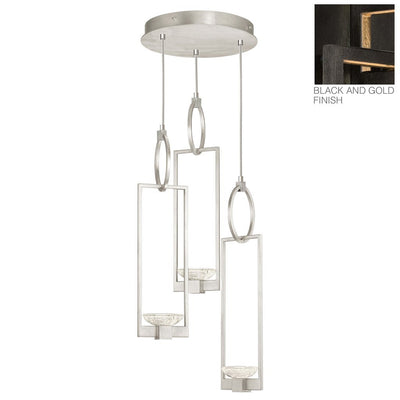 Delphi Pendant 89294 in black iron with gold accents
